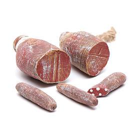Comida em Miniatura para Presépio: Charcutaria para pendurar 5 peças presépio