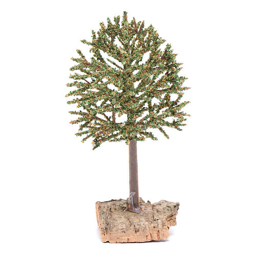 DIY nativity scene tree on rock 16 cm 1