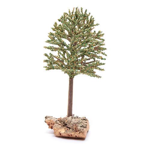 DIY nativity scene tree on rock 16 cm 2