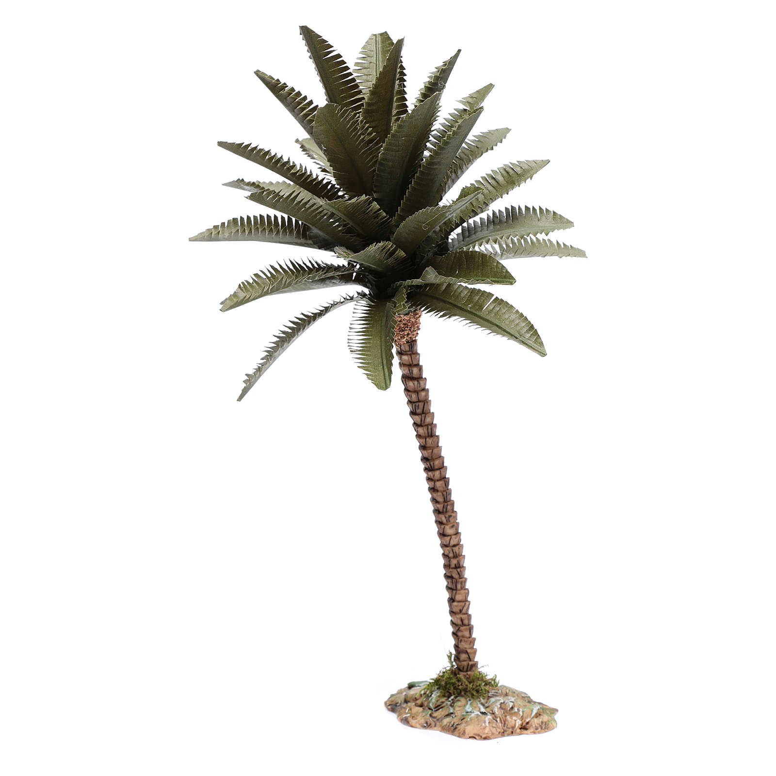 Palma resina para belén hecho con bricolaje 25 cm de altura media 4