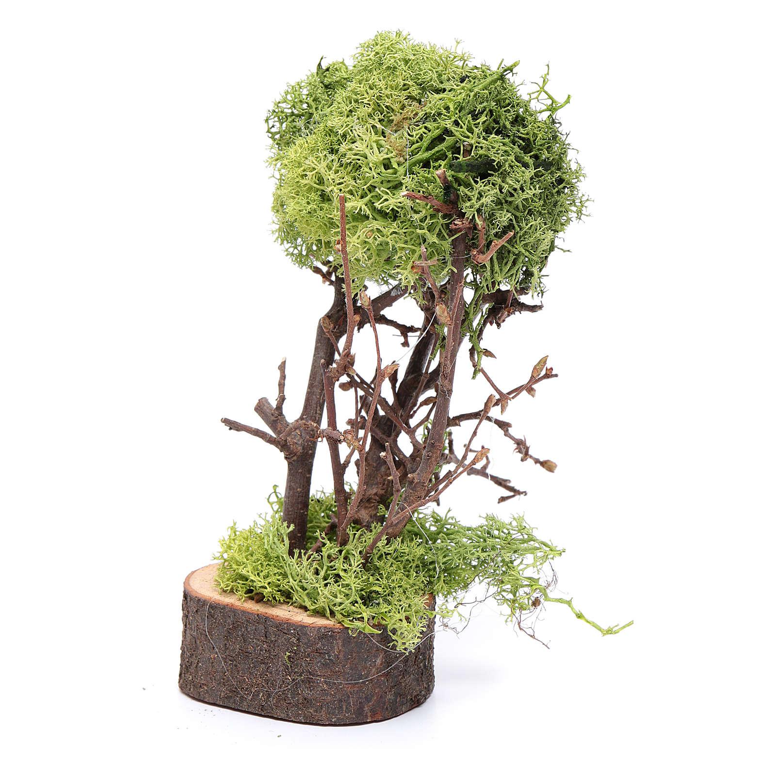 Arbre de lichen pour crèche h 15 cm 4