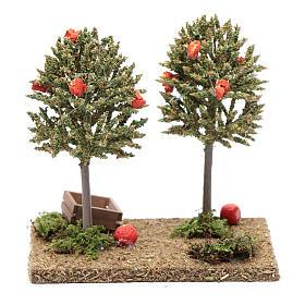 Arbres avec oranges pour crèche 15x10x10 cm s4