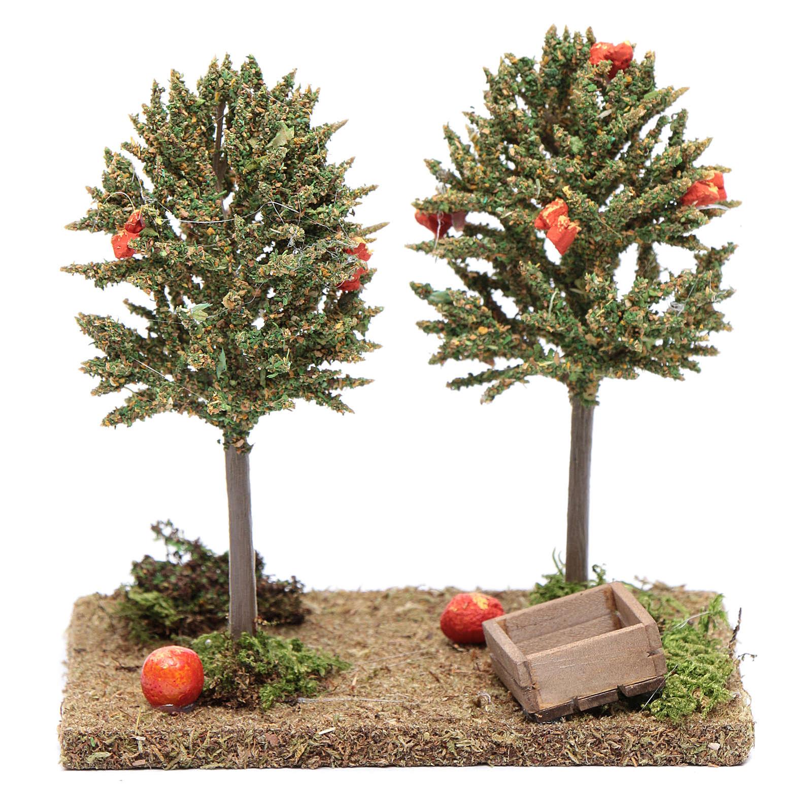Nativity scene orange trees 15x15x10cm 4