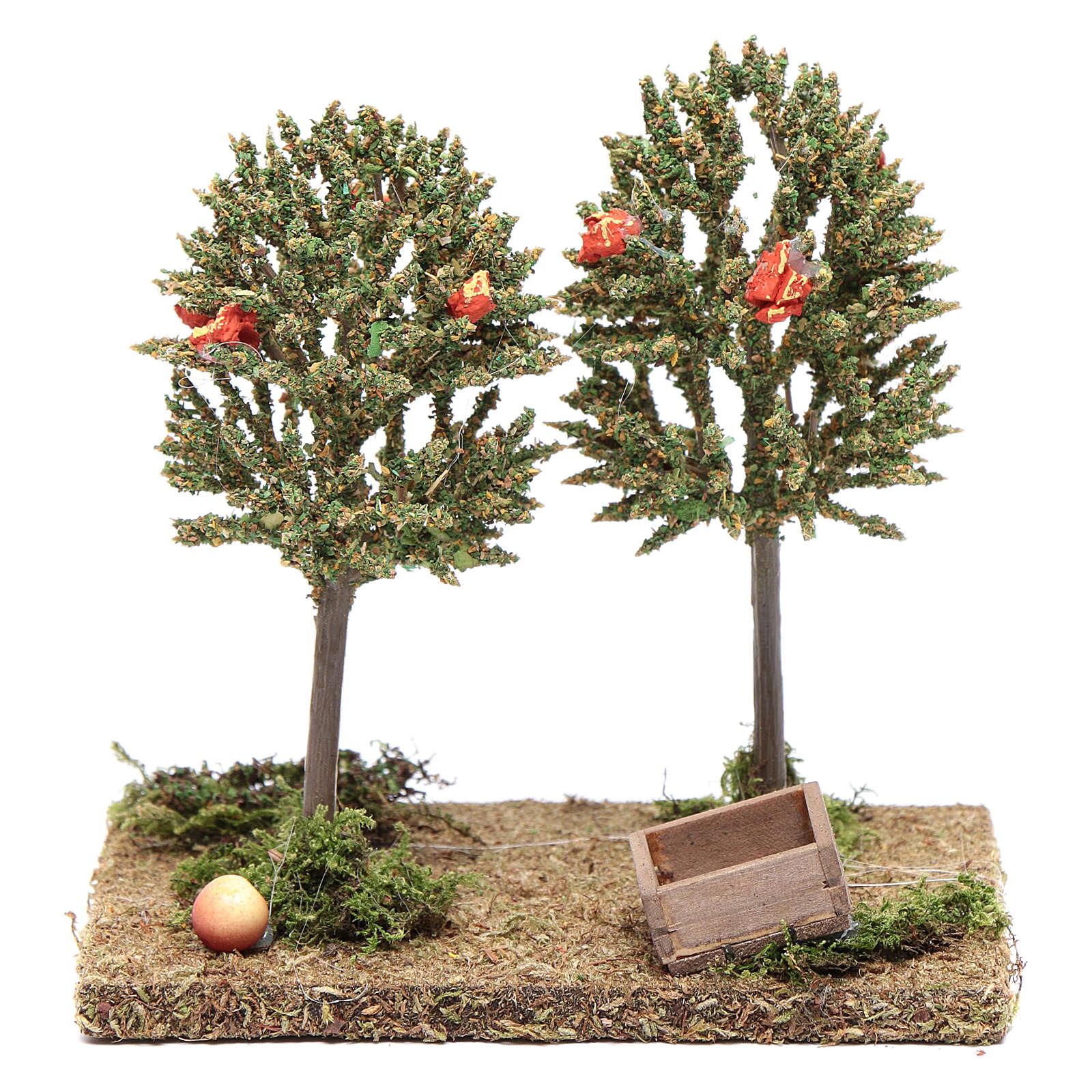 Alberi di mele per presepe 15x15x10cm 4