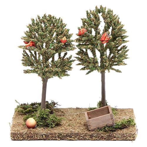 Alberi di mele per presepe 15x15x10cm 1