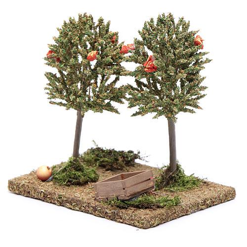 Alberi di mele per presepe 15x15x10cm 2
