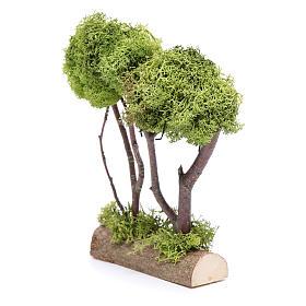 Árvore dupla líquen para presépio 20x15x5 cm s2