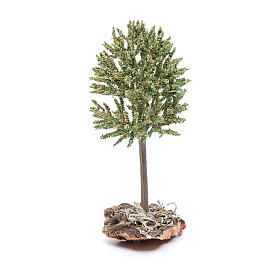 Tree on rock for 12 cm nativity s2
