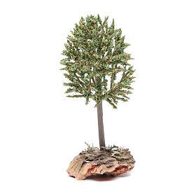 Arbre sur rocher pour crèche 12 cm s1
