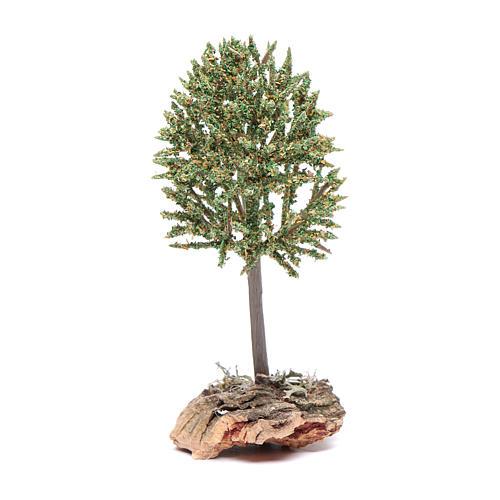Arbre sur rocher pour crèche 12 cm 1