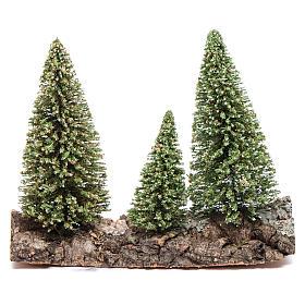 Nativity scene setting three pines on rock s1