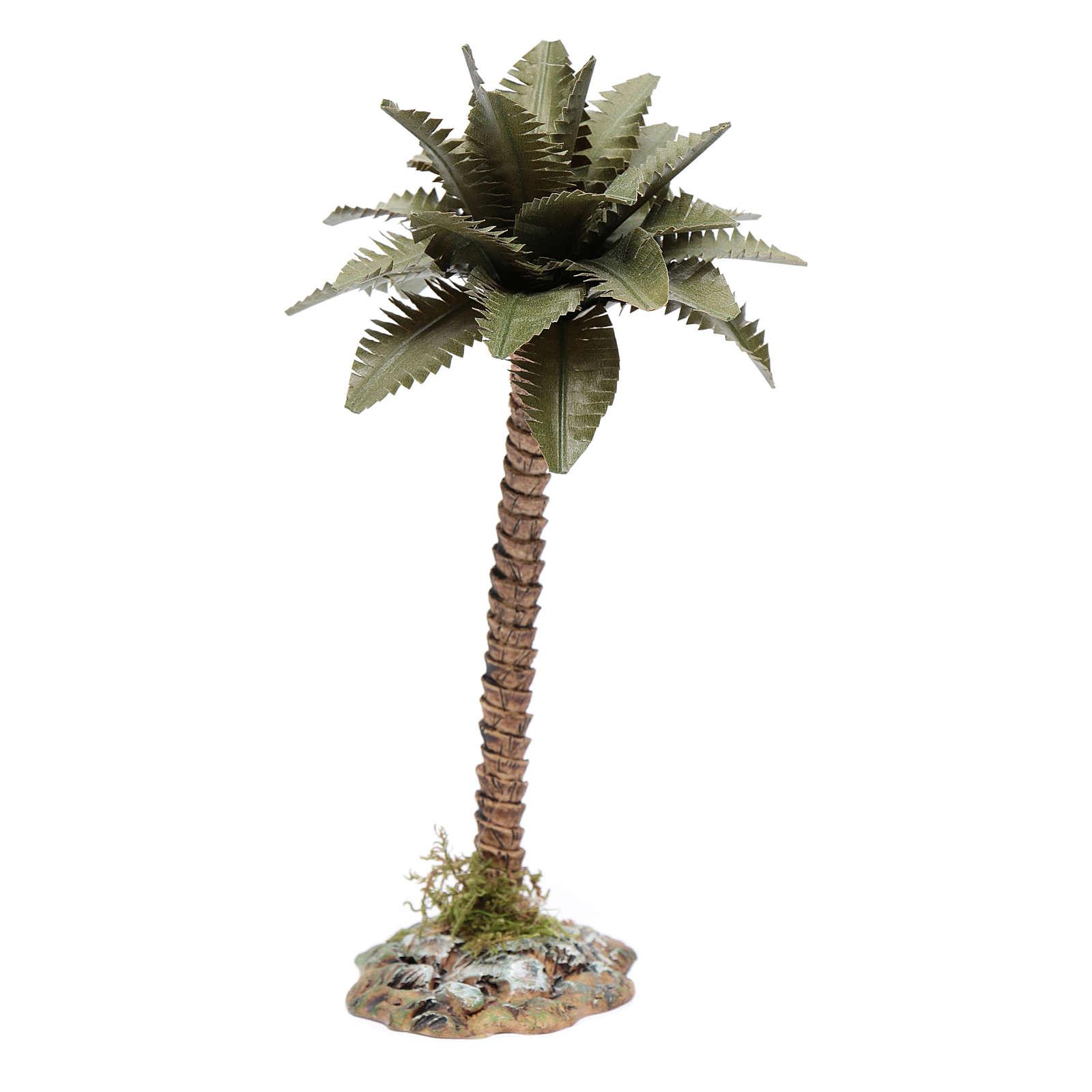 Palmier avec tronc en résine pour crèche h 15 cm 4
