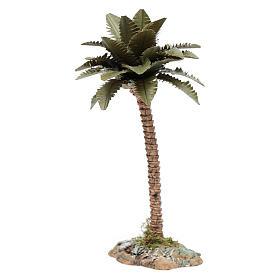 Palmier avec tronc en résine pour crèche h 15 cm s3