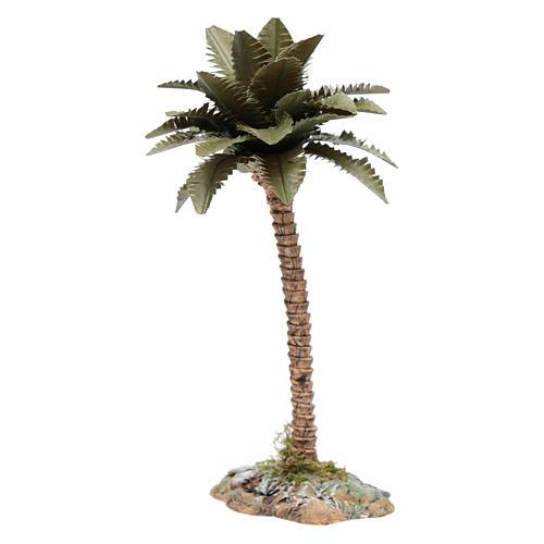 Palmier avec tronc en résine pour crèche h 15 cm 3