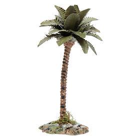Palmeira com tronco em resina para presépio h 15 cm s1