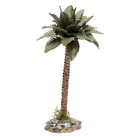 Palmeira com tronco em resina para presépio h 15 cm s2