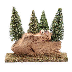 Hill with pine forest 20x20x5 cm s4