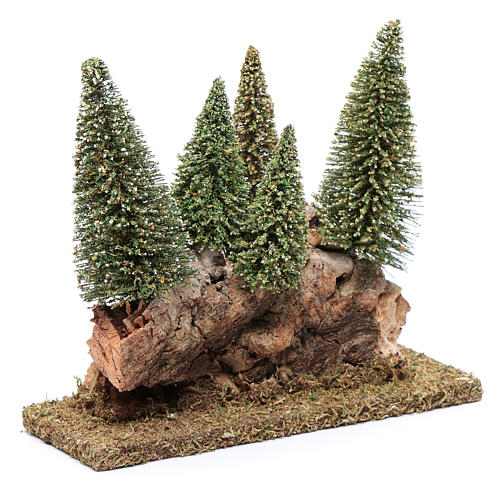 Hill with pine forest 20x20x5 cm 3
