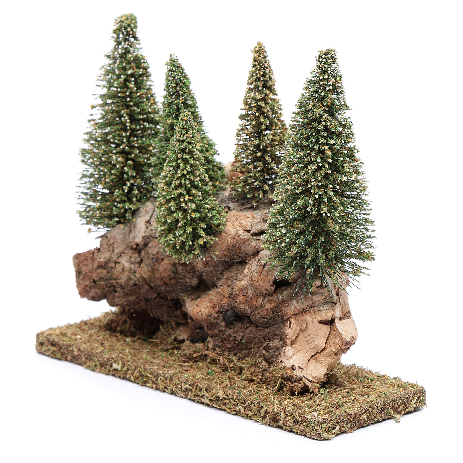 Collina con bosco di pini 20x20x5 cm 4