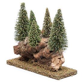Collina con bosco di pini 20x20x5 cm s2