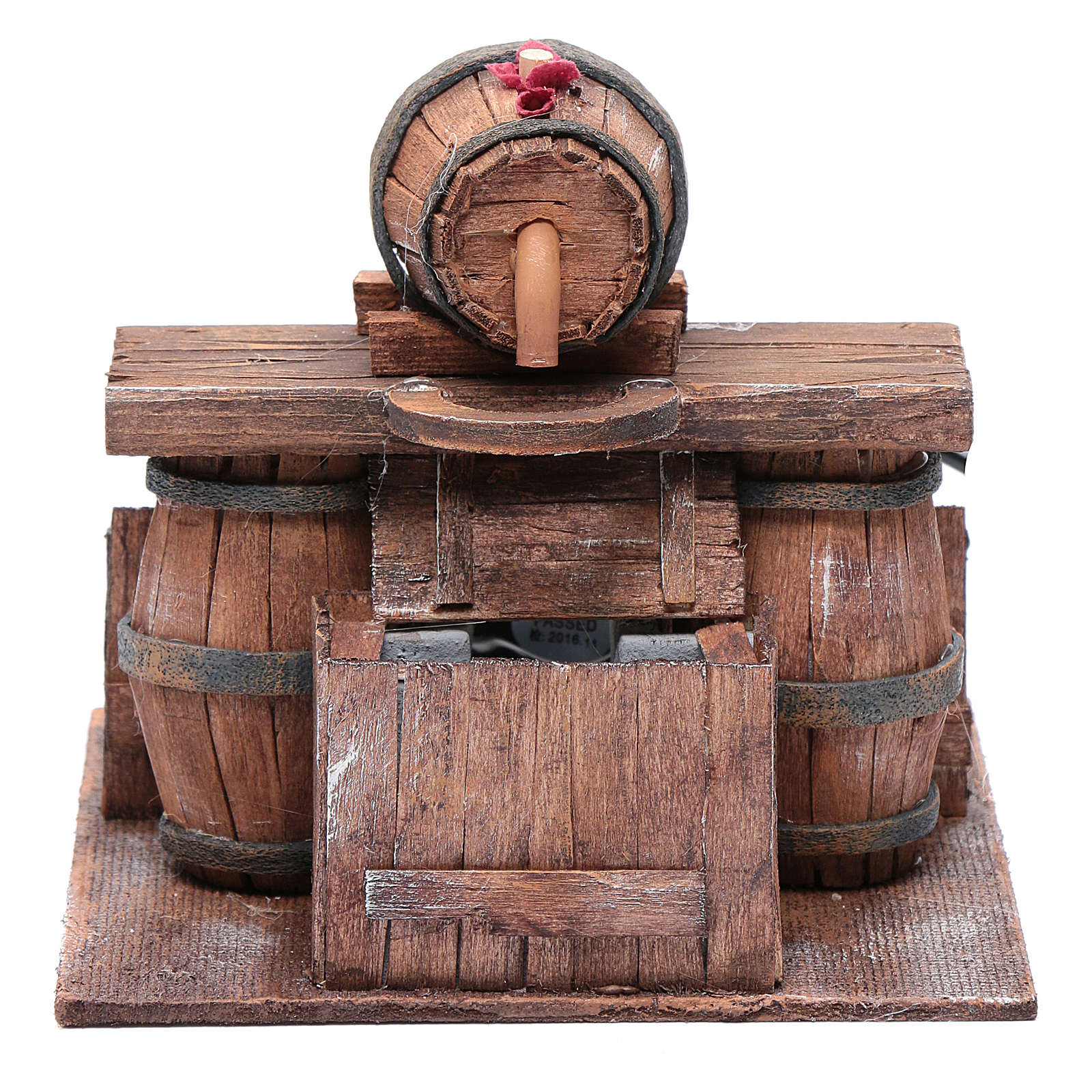 Cellar with barrel and water pump 15x15x15 cm 4