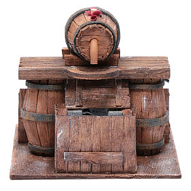 Cellar with barrel and water pump 15x15x15 cm s1