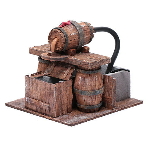 Cellar with barrel and water pump 15x15x15 cm 2