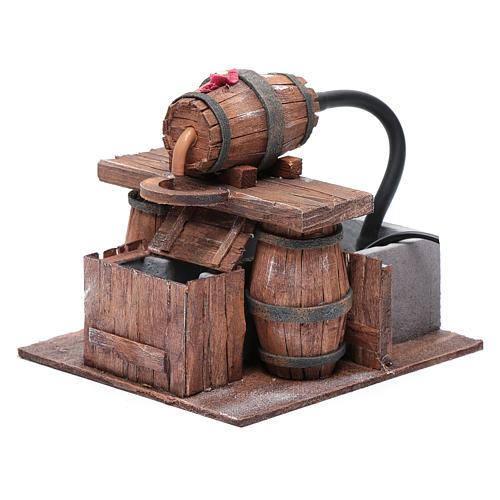 Cantina con botte e pompa acqua 15x15x15 cm 2