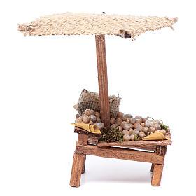 Comida em Miniatura para Presépio: Banca com batatas 15x5,5x9 cm para presépio