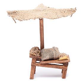 Comida em Miniatura para Presépio: Banca com trigo 15x5,5x9 cm para presépio