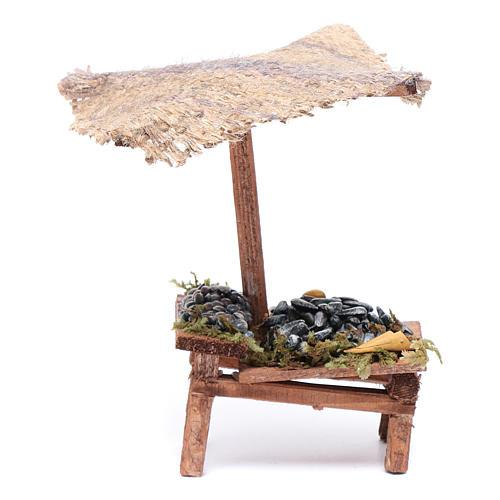 Banchetto con cozze e vongole 15x5x10 cm 1