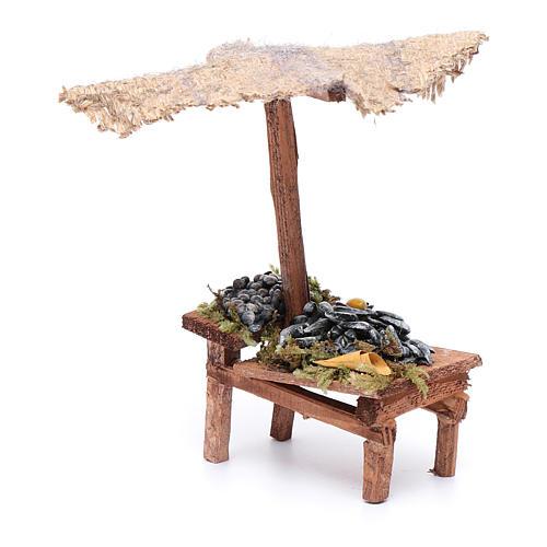 Banchetto con cozze e vongole 15x5x10 cm 2