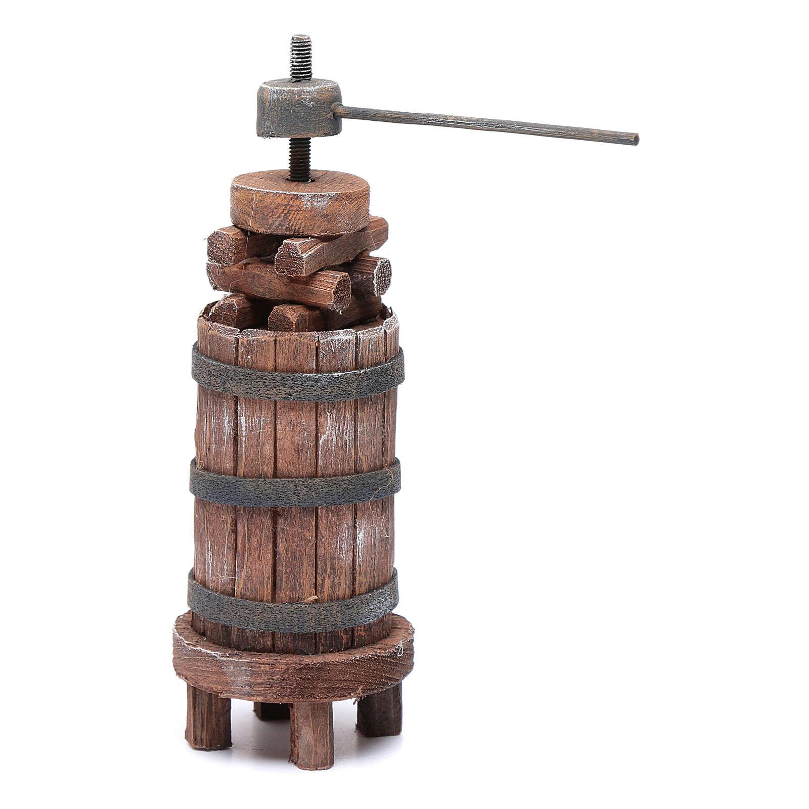 Torchio di legno per presepe h 18,5 cm 4
