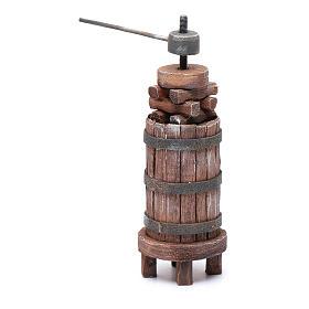 Torchio di legno per presepe h 18,5 cm s2