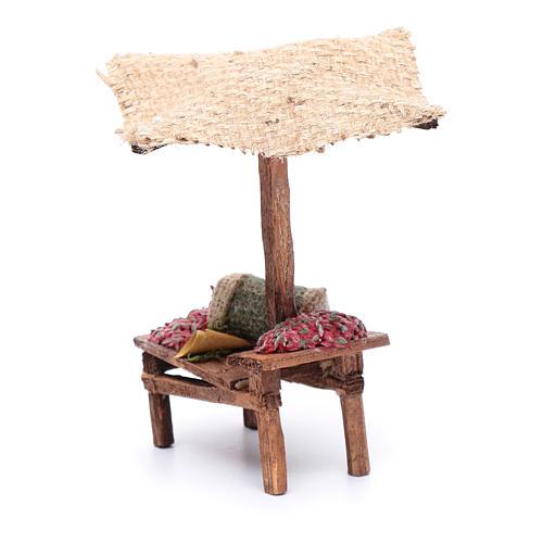 Banchetto con peperoncini per presepe 15x5x10 cm 4