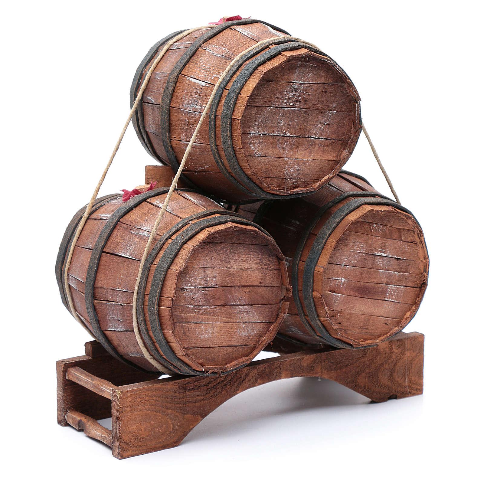 Trio botti per presepe 30x25x15 cm 4