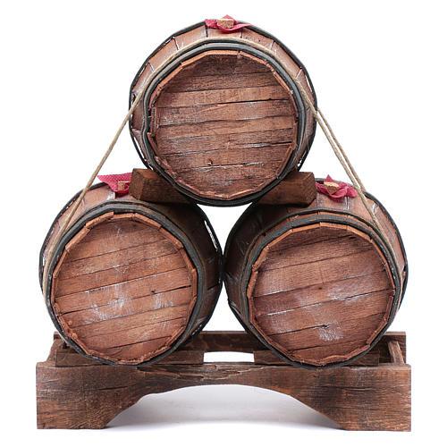 Trio botti per presepe 30x25x15 cm 1