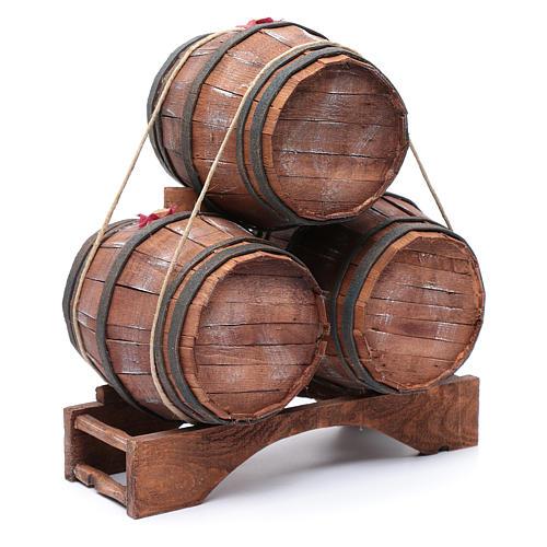 Trio botti per presepe 30x25x15 cm 3
