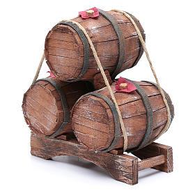 Tre botti in legno 20x15x10 cm s2