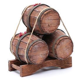 Tre botti in legno 20x15x10 cm s3