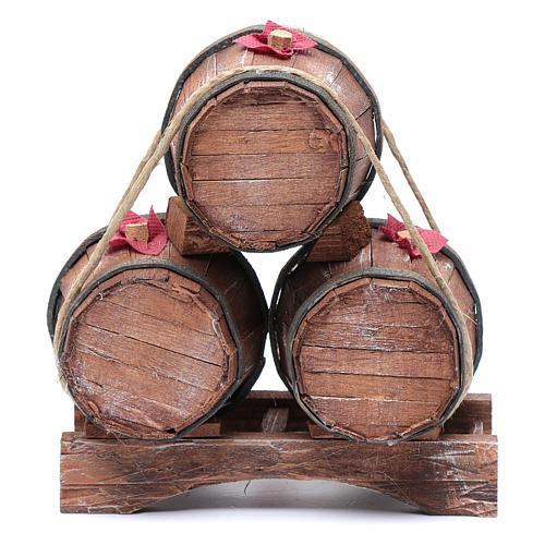 Tre botti in legno 20x15x10 cm 1