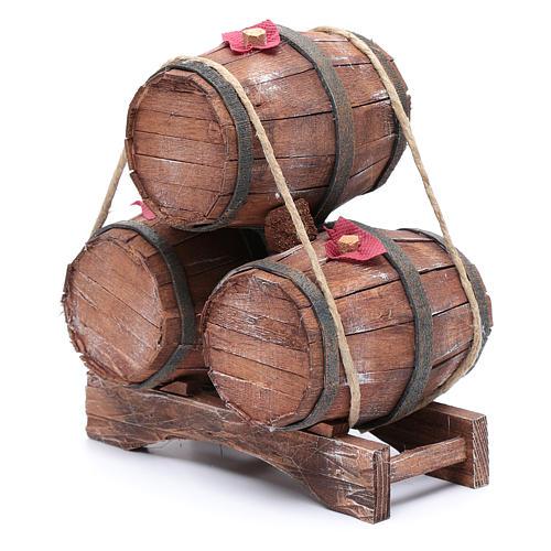 Tre botti in legno 20x15x10 cm 2