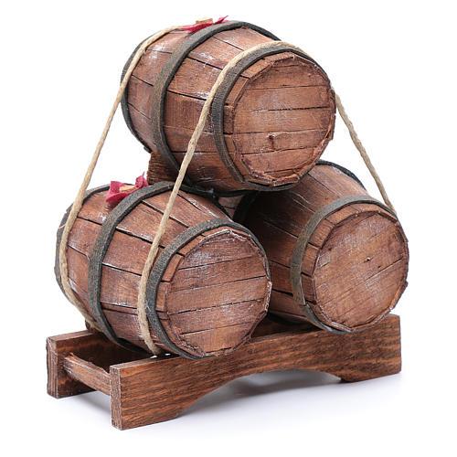 Tre botti in legno 20x15x10 cm 3