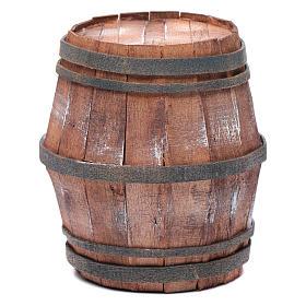 Miniature tools: Nativity scene wooden barrel 15 cm