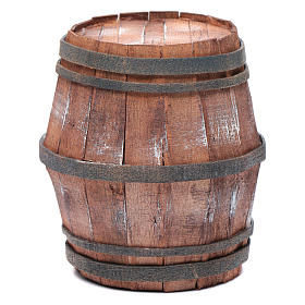 Botte in legno per presepe 15 cm s1