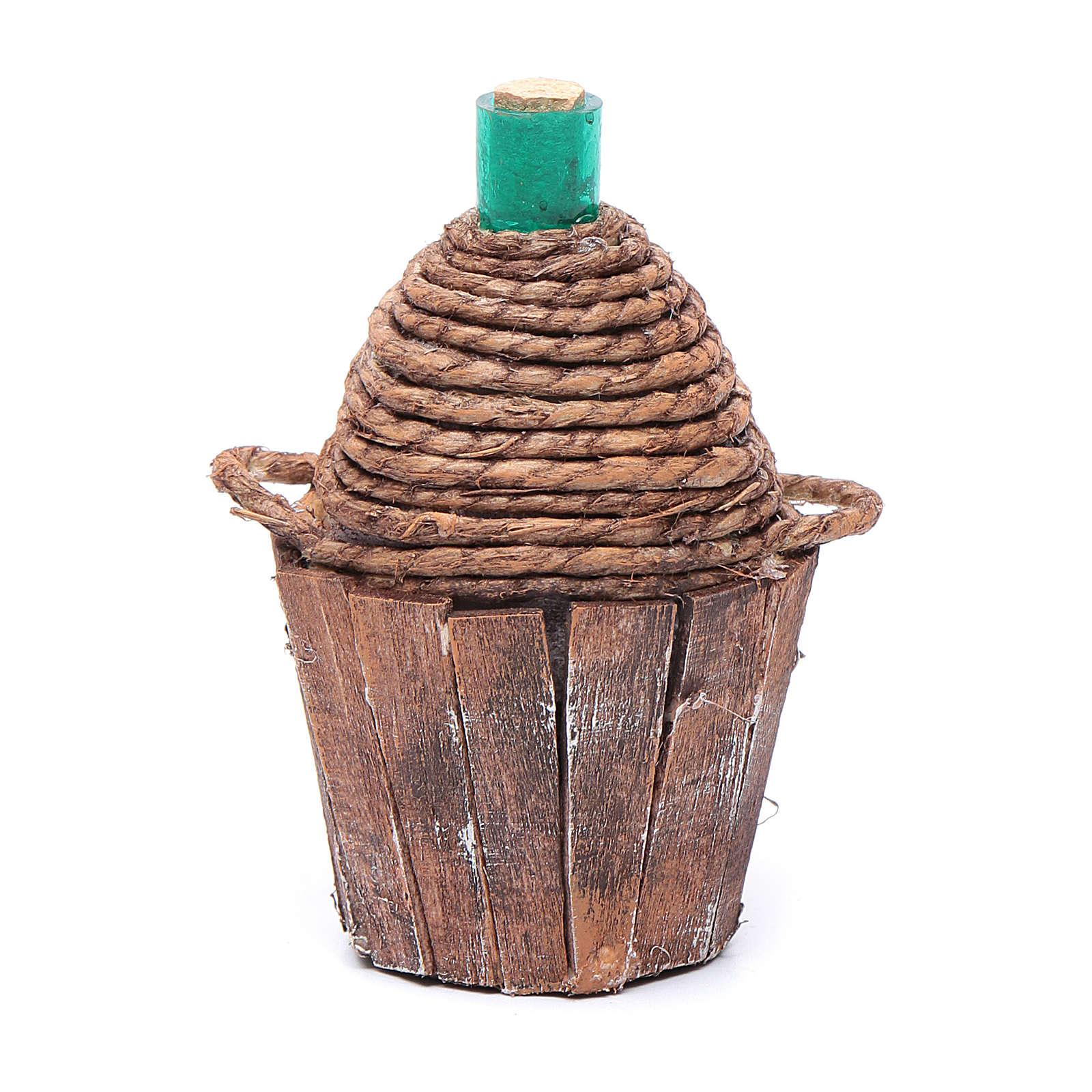 Damigiana legno 9 cm 4