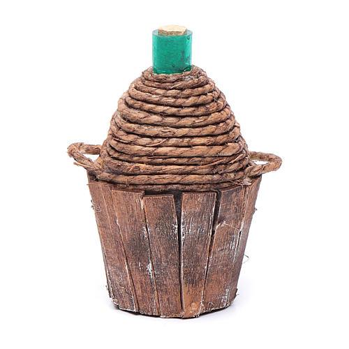 Damigiana legno 9 cm 1