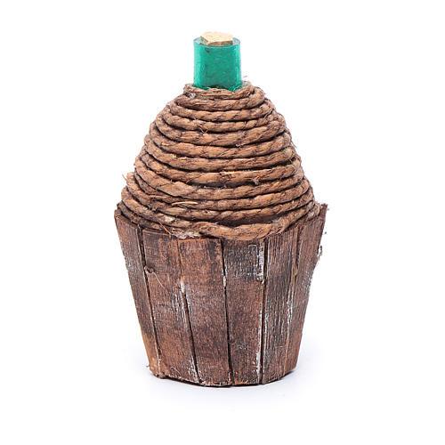 Damigiana legno 9 cm 2
