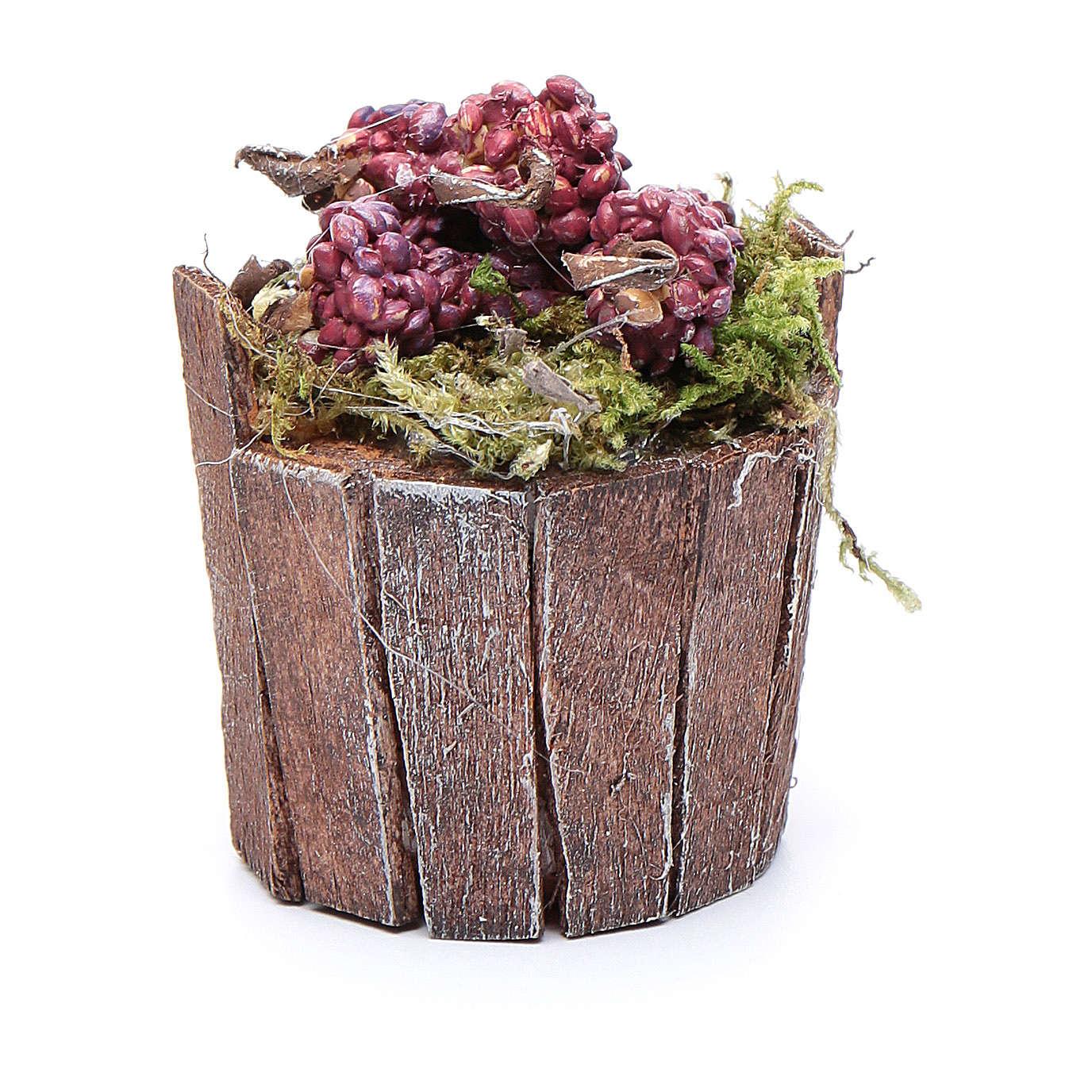 Cuve raisin rouge pour crèche 5 cm 4