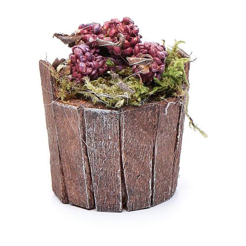 Cuve raisin rouge pour crèche 5 cm 2